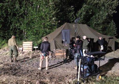 combat-report-behind-the-scenes-filming-tent-exterior