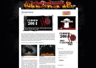 multimedia-design-four-horsemen-haunted-attractions-website